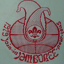 Badge Join-in Jamboree 1979 met logo van de afgelaste jamboree